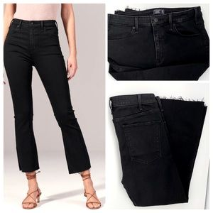 Abercrombie New High Rise Jeans Ankle Cut Black